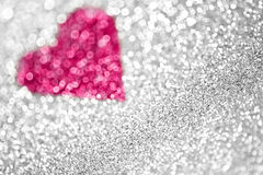 Pink Glitter Fairy Lights Background. Pink silver glitter fairy lights background royalty free stock photos