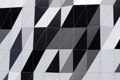 Abstract motifs of the building wall. Stock Image
