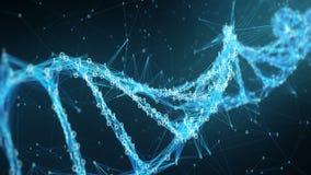 Abstract Motion Background - Digital Binary Plexus DNA molecule 4k Loop stock video footage