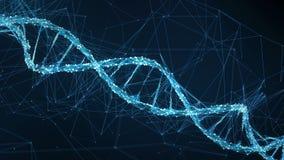 Abstract Motion Background - Digital Plexus DNA molecule 4k Loop stock video footage