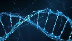 Abstract Motion Background - Digital Plexus DNA molecule 4k Loop stock video