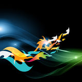 Abstract motion background - flames Stock Image