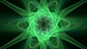 Abstract motion background, six-pointed green star seamless loop able. royalty free illustration