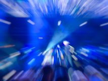 Abstract motion blur effect. Bokeh lighting in concert with audience.  royalty free stock photography