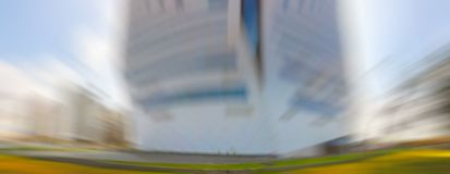 Abstract motion blur effect. City on a sunny day stock photos