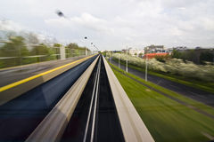 Abstract motion blur from monorail Stock Photos