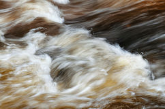 Abstract motion blur river water. Wave, brown background Royalty Free Stock Photo