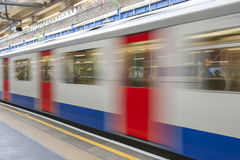 Abstract motion blur of train Royalty Free Stock Photo