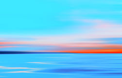Abstract Motion Blurred Light Colored Sea Background Royalty Free Stock Images