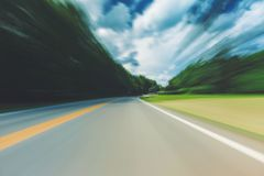 Abstract motion blurred view of the street Royalty Free Stock Images