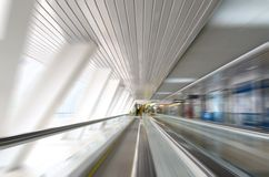 Abstract motion in corridor Royalty Free Stock Images
