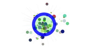 Abstract motion design element. Circles and radiating rays. stock video