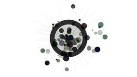Abstract motion design element. Circles and radiating rays. stock video footage