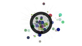 Abstract motion design element. Circles and radiating rays. stock footage