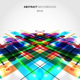 Abstract motion dynamic composition made of various colorful rounded shapes lines on perspective background. Vector illustration vector illustration