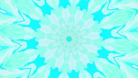Abstract motion graphics background. Hypnotic mandala for meditation. Kaleidoscope stage visual effect for concert