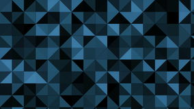 Abstract motion graphics with sparkling blue triangles. 4k stock video