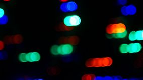 Abstract motion light bokeh background. For motion movement design background stock footage