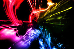 Abstract motion lights background. Stock Photography