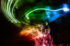 Abstract motion lights background. Royalty Free Stock Image