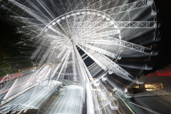 Free Abstract Motion Of Rotatinmg Ferris Wheel At Night Stock Photo - 71058810