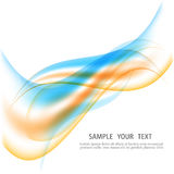 Abstract motion smooth color wave vector. Curve green and blue lines Royalty Free Stock Photos