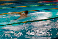 Abstract motion a swimmer 2 Royalty Free Stock Images