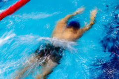 Abstract motion a swimmer 1 Stock Photos