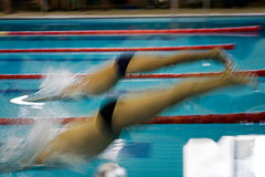 Abstract motion a swimmers 1 Stock Image