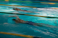Abstract motion a swimmers Royalty Free Stock Photography