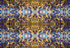 Abstract motley and colorful pattern. Oil painting on canvas. Abstract motley and colorful pattern. Fabulous flowers and plants. Embossed texture of oil paint royalty free illustration