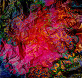 Abstract motley design on spotted background Stock Photo