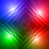 Abstract motley rainbow background with four shining lines and w. Abstract rainbow background with four shining lines and motley waves over multicolored gradient Stock Photo