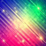 Abstract motley rainbow background with shining lines and stars Royalty Free Stock Photos