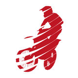 Abstract motocross rider. Vector silhouette Royalty Free Stock Image