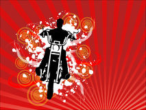 Abstract Motorcycle Rider Background Vector. Abstract vector illustration of the silhouette of a motorcylce rider vector illustration