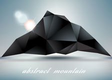 Abstract mountain backgrond  with sun. Royalty Free Stock Image