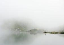 Abstract mountain lake Stock Photos