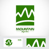 Abstract mountain logo Stock Images