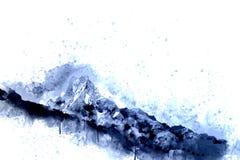 Abstract mountain peak Stock Photos