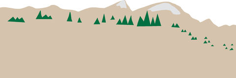 Abstract Mountain Range Royalty Free Stock Photo