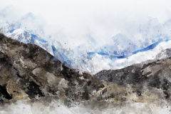 Abstract mountain range Royalty Free Stock Photography