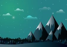 Abstract mountains background Stock Photography