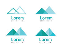 Abstract mountains logos. Stock Image