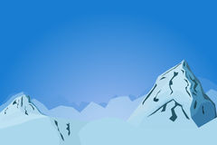 Abstract mountains vector landscape illustration with hills  Stock Photography