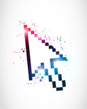 Abstract mouse cursor pointer Stock Photography