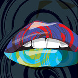 Abstract mouth. Vector. Abstract illustration of a sensual woman mouth Stock Images