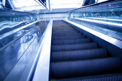 Abstract move escalator. In shopping mall Stock Images