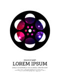 Abstract movie and film bokeh poster background Royalty Free Stock Photography