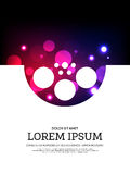 Abstract movie and film bokeh poster background Royalty Free Stock Photos